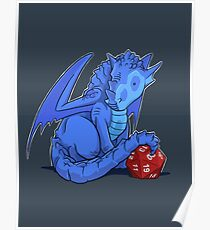D20 Blue Dragon Poster