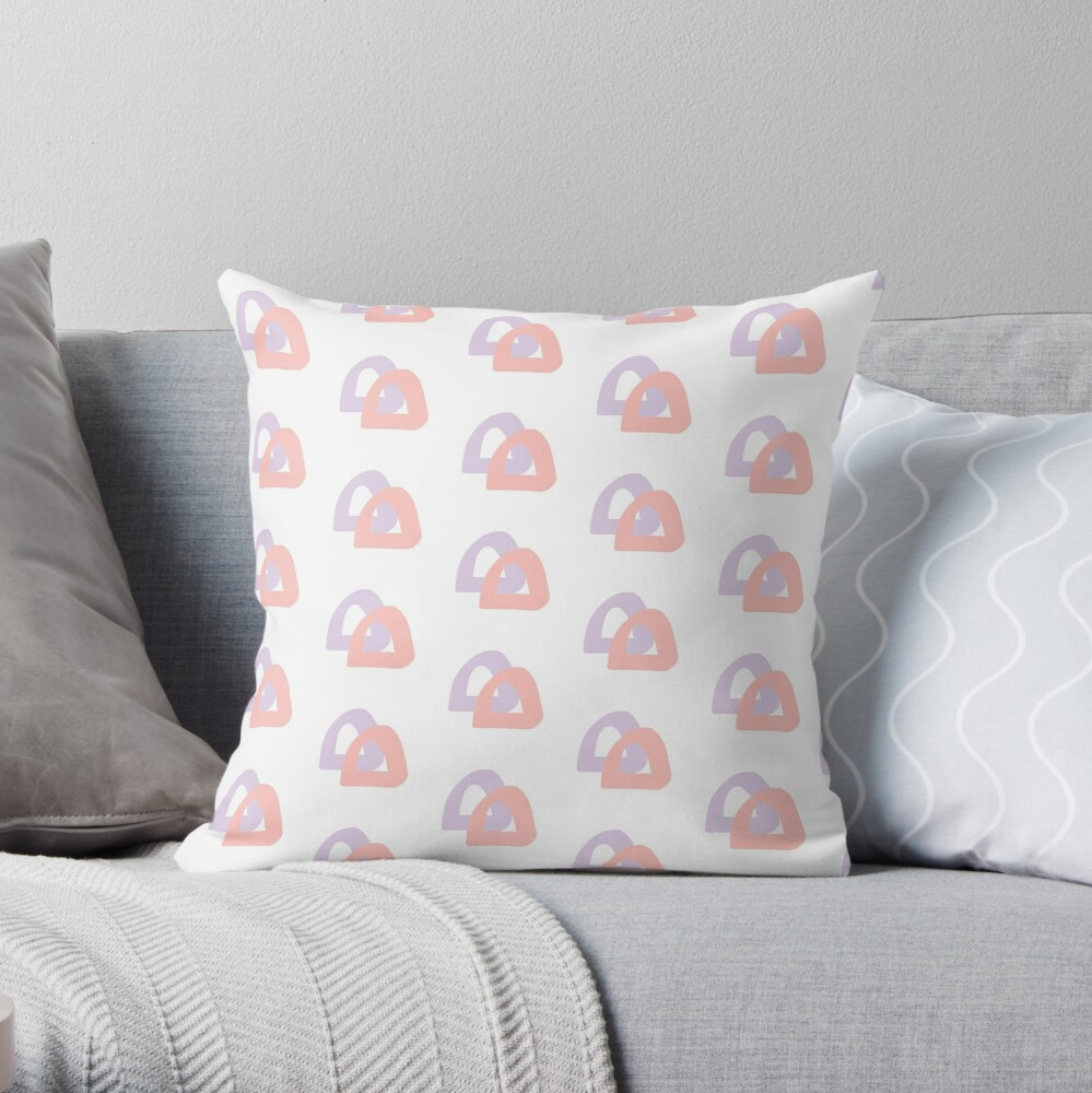Double Domes Throw Pillow