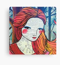 Little Red modern red portrait Canvas Print
