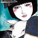 Portrait of a japanese inspired woman by Alicia Rogerson