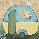 Travelling in a retro caravan by Alicia Rogerson