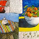 sketchbook spread by Evelyn Bach