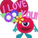 I Love You! Felt Monster by CheriesArt