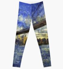 Legging Puente de Brooklyn Van Gogh