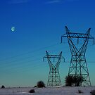 Winter Lines.... with Moon Power... by Larry Llewellyn