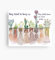 """""""They Tried to bury Us"""" Water Colour Metal Print"""