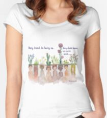 """""""They Tried to bury Us"""" Water Colour Women's Fitted Scoop T-Shirt"""