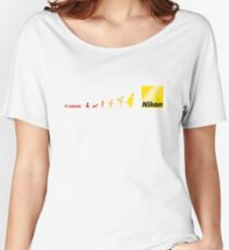Nikon vs Canon Women's Relaxed Fit T-Shirt