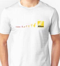 Nikon vs Canon Unisex T-Shirt