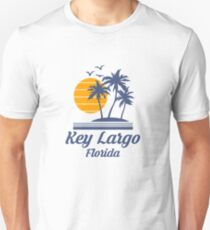 Key Largo Florida Shirt FL State Home City Beach Tourist Travel Souvenir Gift Slim Fit T-Shirt