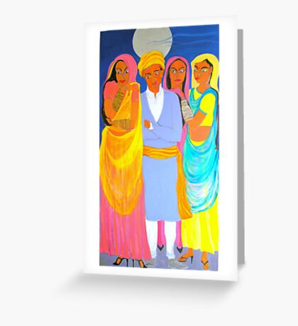 The Wedding Guests Greeting Card