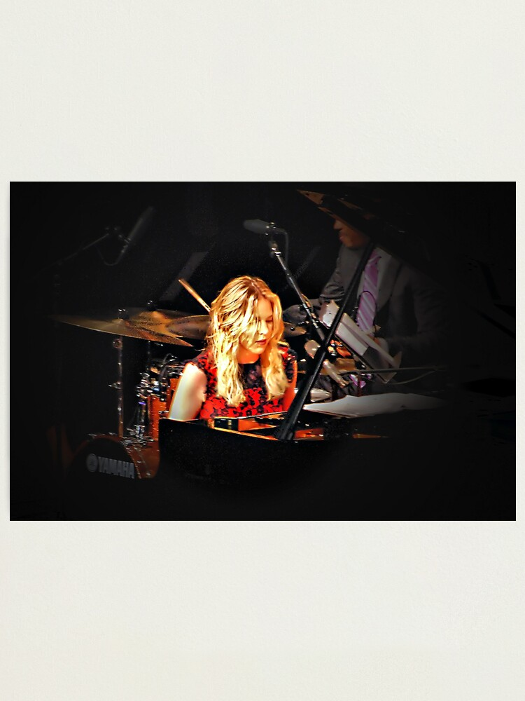 Alternate view of Diana Krall in concert Photographic Print