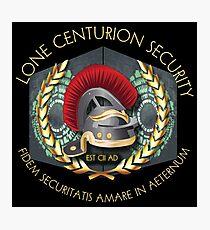 Lone Centurion Security Photographic Print
