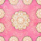 Mandala Dreams in pink by Melanie Moor