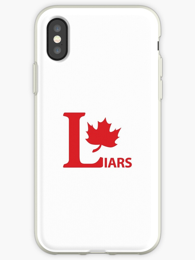 half off c9018 7b5da 'Liberal Party Canada logo Parody LIARS with Maple #PPC Berniernation CPC  Trudeauout red and white HD HIGH QUALITY ONLINE STORE' iPhone Case by ...