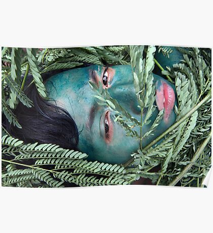 Green Face For Green Earth Poster