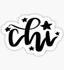 Chi - Greek Letter Sticker