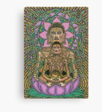 Ascetic Buddha, Ink & Pencil Canvas Print