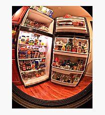 Peep into my fridge :) Photographic Print