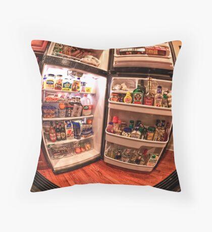 Peep into my fridge :) Throw Pillow