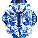 Ultramarine (Blue Lobster) von Nalini Biggs