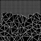 Abstract Outline With Grid Black by ProjectM
