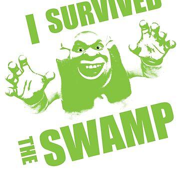 I Survived the Swamp - Black Tee by illuminatim