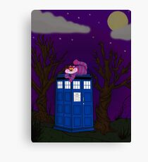 Cheshire of time and space Canvas Print