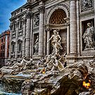 The famous Trevi Fountain by Julie Teague