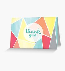 Tessellate Thank You Card Greeting Card