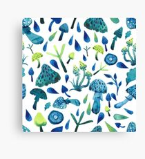 - Mushrooms pattern - Canvas Print