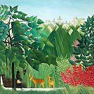 Henri Rousseau - The Waterfall - Oil Painting 1910 by STYLESYNDIKAT