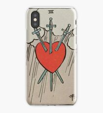 Three of Swords Tarot iPhone Case