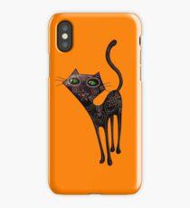Black Cat of The Dead iPhone Case/Skin