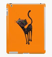 Black Cat of The Dead iPad-Hülle & Klebefolie