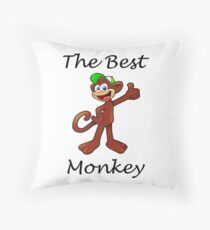 El Mas Mono Throw Pillow