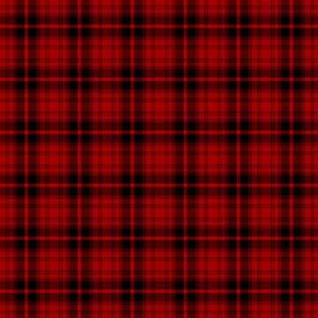 Red & Black Lumberjack Tartan Plaid Pattern by harrizon