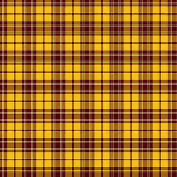 Wizard School Tartan Plain Pattern Yellow by harrizon