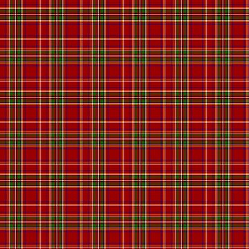 Royal Stewart Tartan Inspired Plaid Pattern  by harrizon