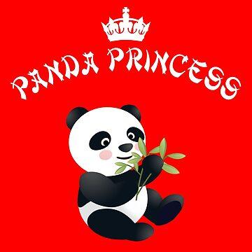 Panda Princess - I love pandas by Juttas-Shirts