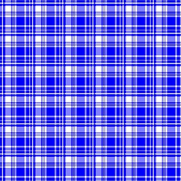 St Andres Flag inspired Blue & White Tartan by harrizon