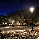Square at night  (Stockholm, Sweden) by Antanas