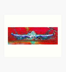 swimmer in action butterfly Art Print