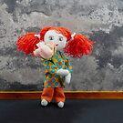 Red headed rag doll girl by vannaweb