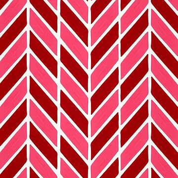 Herringbone Acrylic – Red & Pink Palette by catcoq
