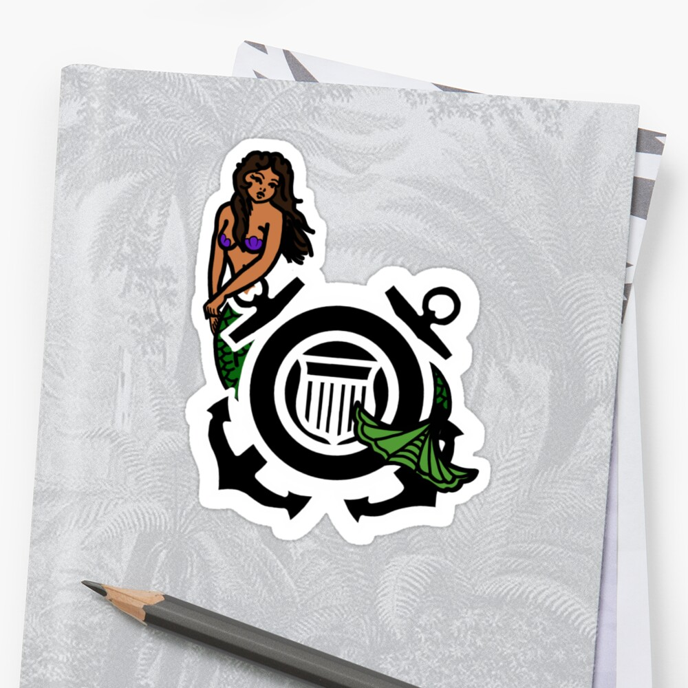 CG Shield Mermaid Sticker
