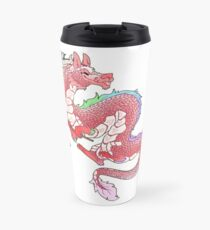 Gay Pride Eastern Dragon - Pastel.  Travel Mug