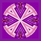 Mandala magenta by danielasabina