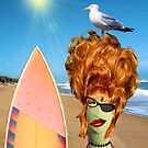 Self portrait no.2   at the beach by Susan Ringler