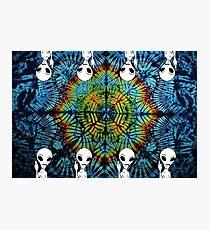 Tie Dye Alien Salute Photographic Print